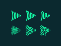 SubscribeFM Brand Exploration podcasting podcast soundwave waveform broadcast audio icon logo branding