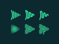 SubscribeFM Brand Exploration podcasting podcast soundwave waveform broadcast audio icon logo branding