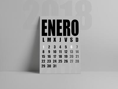 ✖ Calendar Design 2018 ✖ print design calendar