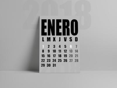✖ Calendar Design 2018 ✖
