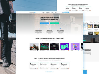 Website design for video jobs page! website web page one ux ui jobs video home landing