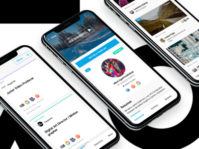 Weereel iPhone X website video ux ui temple professionals landing page job design branding app
