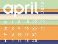 April Desktopcalendar