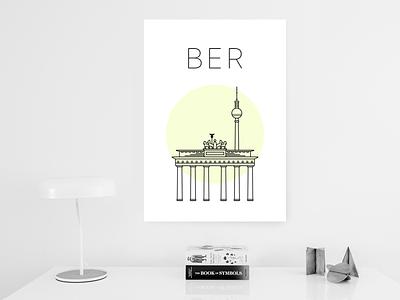 Berlin City Poster awwwards fernsehturm gate brandenburg berlin