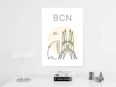Barcelona poster poster minimal spain sagrada familia w hotel barcelona