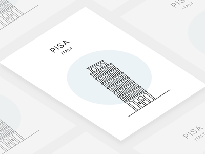 Poster of Pisa, Italy tower of pisa leaning tower tower city print minimal poster pisa tower italy pisa
