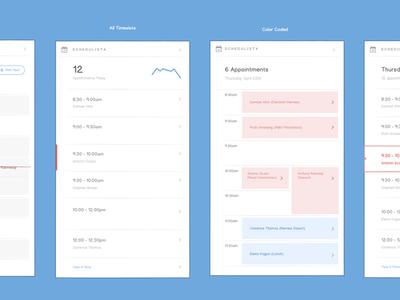 Calendar Concepts for a Dashboard Card