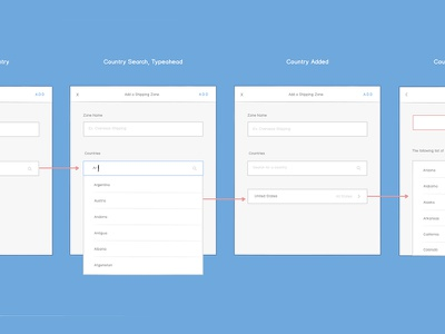 Shipping Zones Concept ux workflow wireframes weebly balsamiq