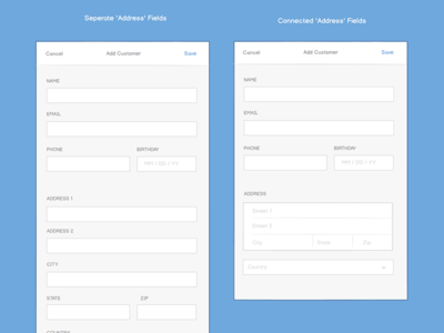 Address Forms