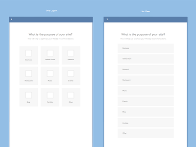 List vs. Grid View design interaction ux wireframes workflow balsamiq