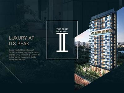 Website design | The Peak @ Cairnhill ll