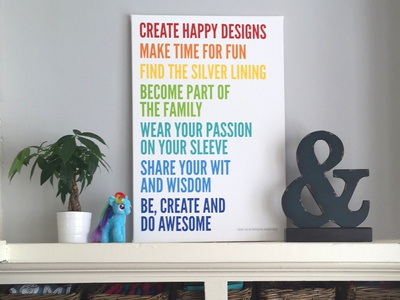 Rhyme & Reason Design Core Values Canvas