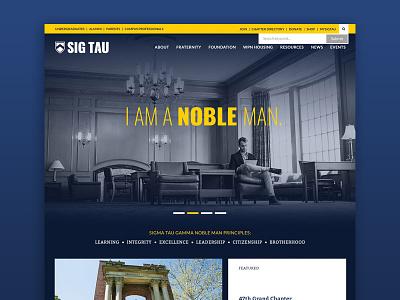 Sig Tau Website inspiration navy web design sig tau sigma tau gamma website design website fraternity