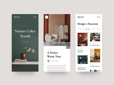 Magazine App Concept interior decor app design app mobile