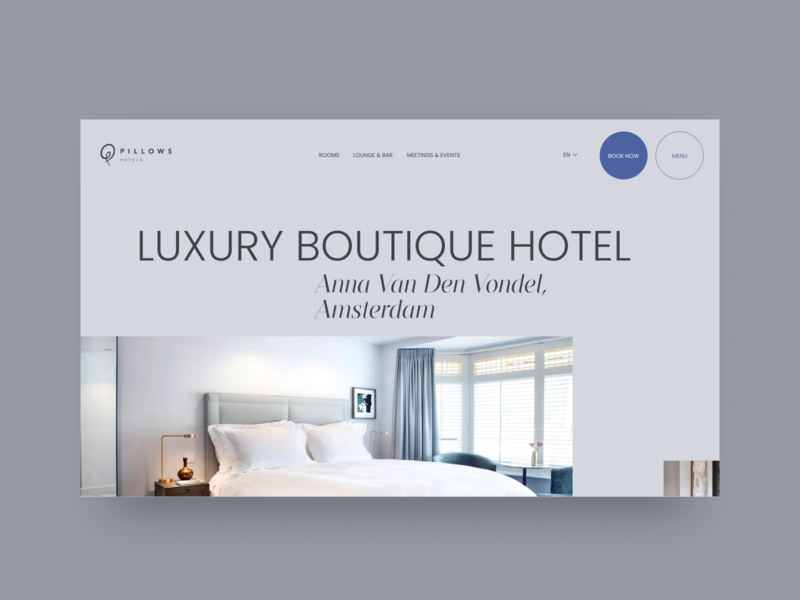 Hotel website redesign concept typography inspiration concept minimalism web design minimal webdesign