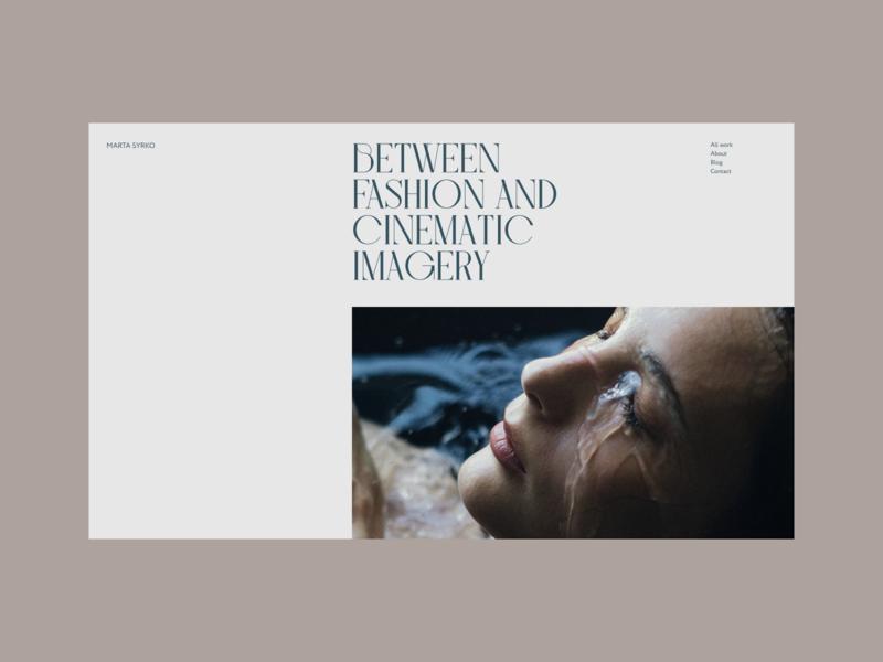 Portfolio Concept minimal typo webdesign typography minimalism concept
