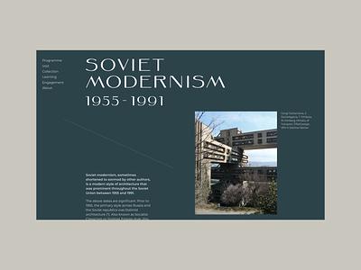 Soviet Modernism ui webdesign typo typography inspiration minimal minimalism concept