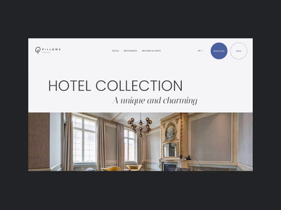 Hotel Redesign Concept typography webdesign hotel scroll animation
