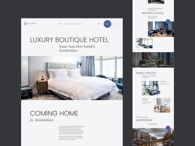 Hotel Redesign Concept hotel grid layout grid typography webdesign animation