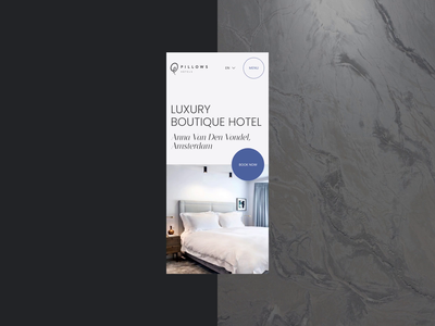 Hotel Redesign Concept grid layout typography hotel mobile design mobile webdesign animation