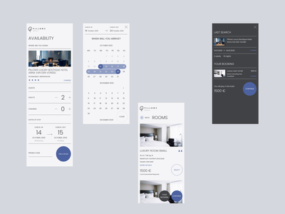 Hotel Redesign Concept — Booking concept minimal minimalism hotel booking hotel calendar ui calendar booking mobile