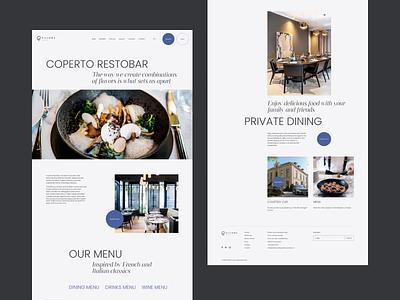 Hotel Redesign Concept animation minimal typography grid layout web design cafe restaurant webdesign concept