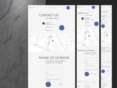 Hotel Redesign Concept — Contact Page mobile adaptive contact page contact form uiux contact grid layout typography minimal webdesign