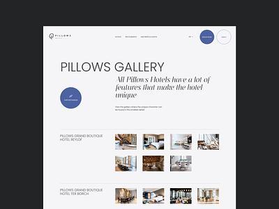 Hotel Redesign Concept — Gallery typo minimal typography hotel gallery desktop webdesign