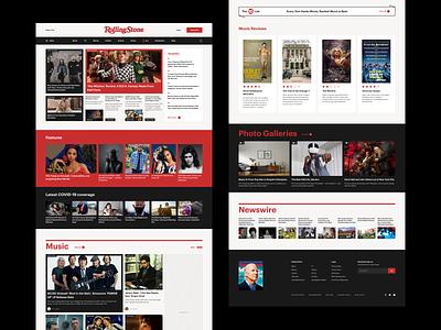 Rolling Stone Magazine Redesign Concept newsfeed animation webdesign concept inspiration magazine news newspaper menu menu design scroll web design desktop