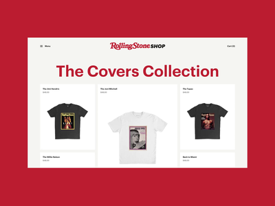 Rolling Stone Shop Redesign Concept concept desktop catalogue catalog store shop scroll uiux webdesign web design animation