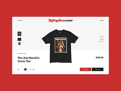 Rolling Stone Shop Redesign Concept web design webdesign concept uiux ui store mobile ui desktop product card product page shop