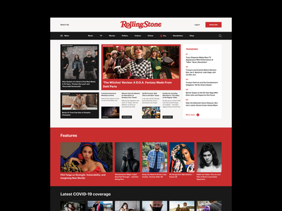 Rolling Stone Homepage Concept homepage uiux ui design newsfeed magazine concept web design minimalism minimal typography webdesign