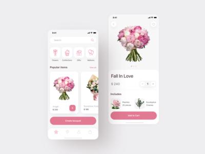Flowers Delivery App Design