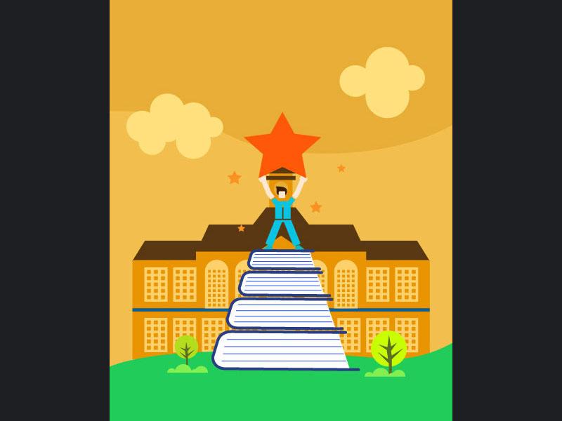 Brilliant Student bright star university school book study student brilliant topper