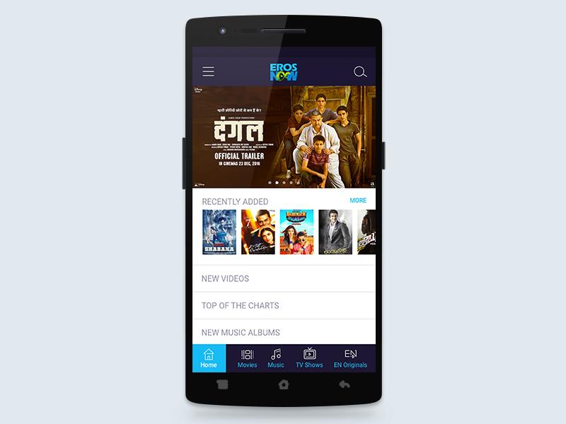 Eros App Redesign music booking entertainment movies redesign app eros