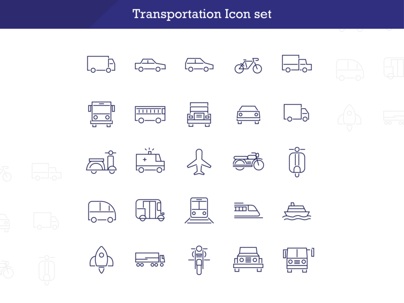 Transportation Icons transport cycle icons wheerler cars vehicles vehicle