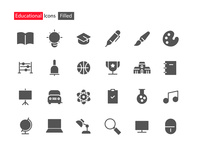 Educational Icons Filled