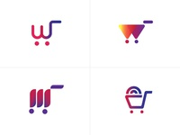 Logo options for Online vehicle parts store wheels logodesign logotype accessories parts vehicle car logo