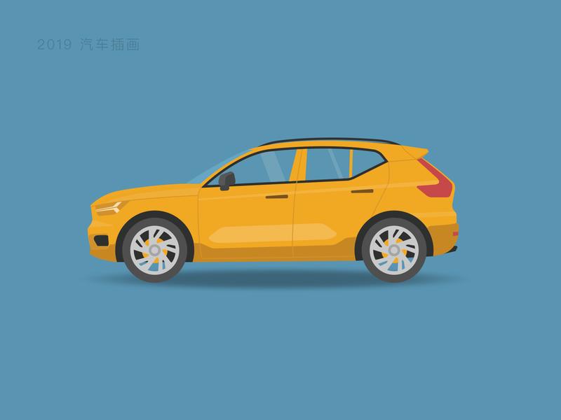汽车插画 图标 设计 ui 插图
