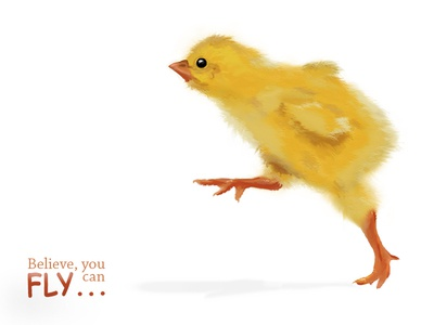 Little chick. FLY.