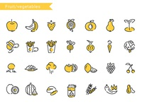 Icon linear pack (fruits and vegetables)