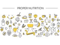 Icon background. Proper nutrition