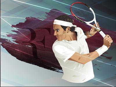 Roger Federer vector tennis federer roger