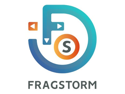 Fragstorm branding logo games video storm frag
