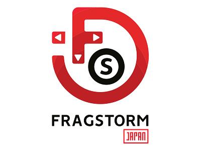 Fragstorm Japan branding logo games video storm frag