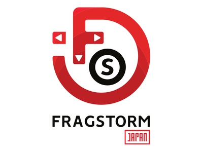 Fragstorm Japan branding logo games video storm frag