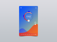 Calories Tracker Fitness UI