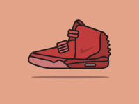 Nike Air Yeezy 2 Red October Illustration