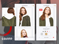 Clothing Listing & Product Page UI Design