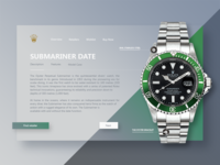 Rolex Submariner Product Page